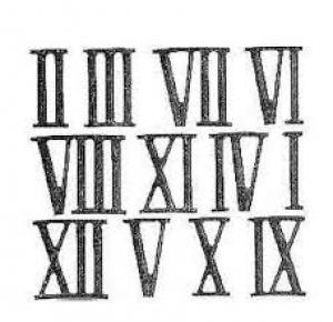 1.Numărul 39 scris cu cifre romane este: