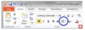33. Ȋn imaginea de mai jos a aplicaţiei Microsoft PowerPoint, butonul încercuit cu albastru: