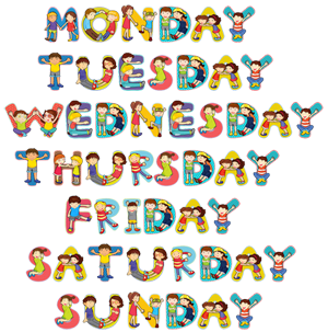 5. The days of the week