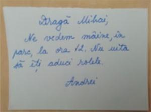 3. Mesajul scris din imagine este: