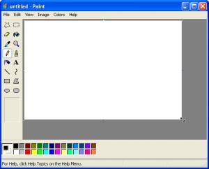12. Alegerea instrumentului grafic se face în Paint prin apăsarea butonului potrivit, din zona de instrumente Tools.