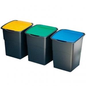 33. Ȋn colectarea selectivă a deşeurilor, containerul albastru este folosit pentru colectarea…: