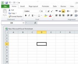 61. Ȋn aplicația Excel, într-o pagină de lucru, D4 reprezintă: